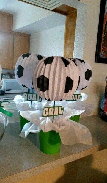 adornos de futbol para cumpleaños decoracion