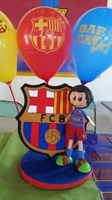 adornos de futbol para cumpleaños escudo