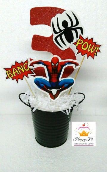 arreglos de mesa de spiderman economicos