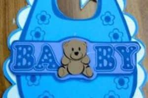 Moldes de baberos de goma eva para baby shower y nacimiento