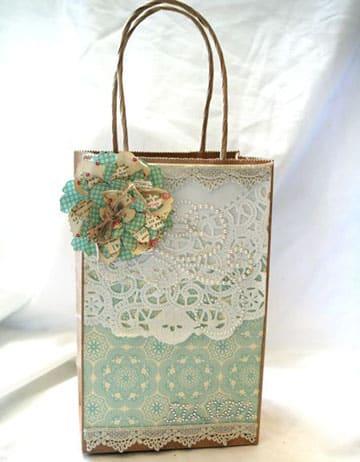 Bolsas de papel decoradas de regalo y para navidad - Como decorar bolsas de papel ...