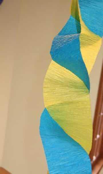 cadenas de papel crepe bicolor