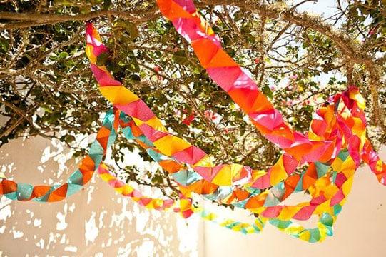 cadenas de papel crepe jardin