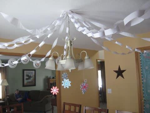 cadenas de papel crepe para fiestas
