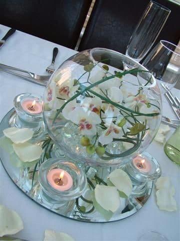 Centros de mesa en peceras adornadas para fiestas - Decoracion de peceras ...