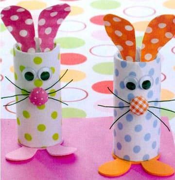como hacer conejitos de pascua de carton