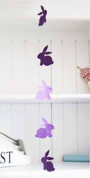 como hacer conejitos de pascua guirnalda