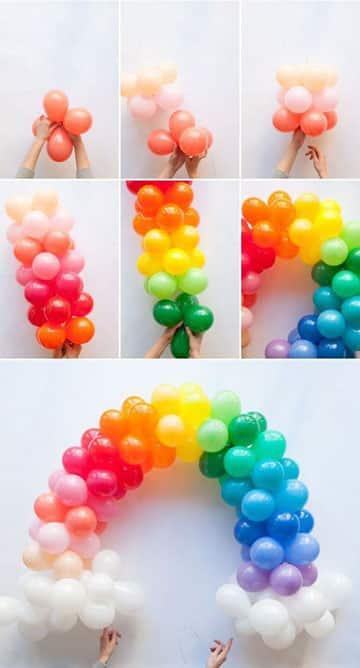 como hacer formas con globos paso a paso
