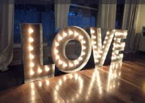 Como hacer letras gigantes grandes de madera para bodas