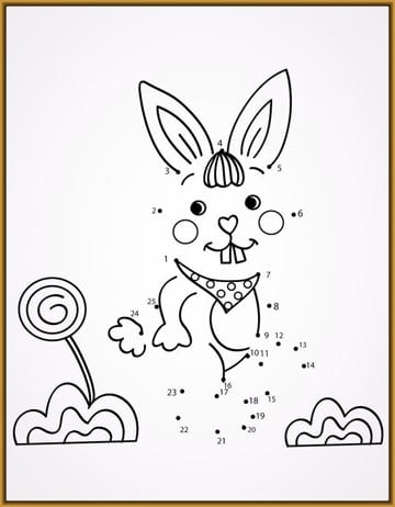 conejos faciles de dibujar con puntos