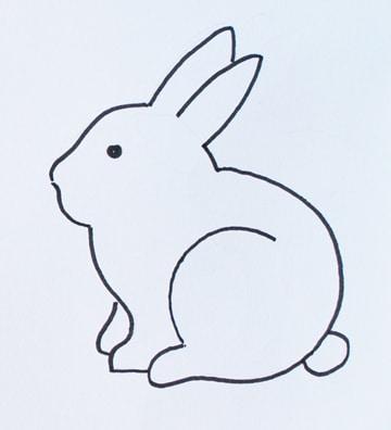 conejos faciles de dibujar faciles