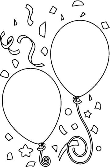dibujos de globos para colorear de fiesta