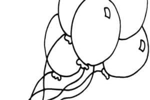 Imagenes y dibujos de globos para colorear para cumpleaños