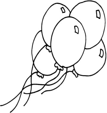 dibujos de globos para colorear imprimir