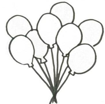 dibujos de globos para colorear y pintar