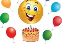 Emoticones de feliz cumpleaños para fiesta y Facebook