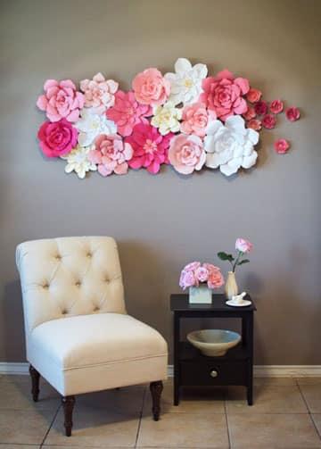 Imagenes de flores de papel faciles y gigantes de  ~ Verde Fiori Quarto