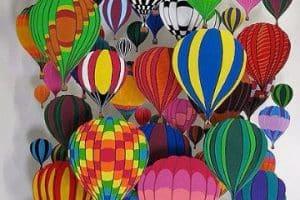 Imagenes de globos de colores para imprimir y colorear