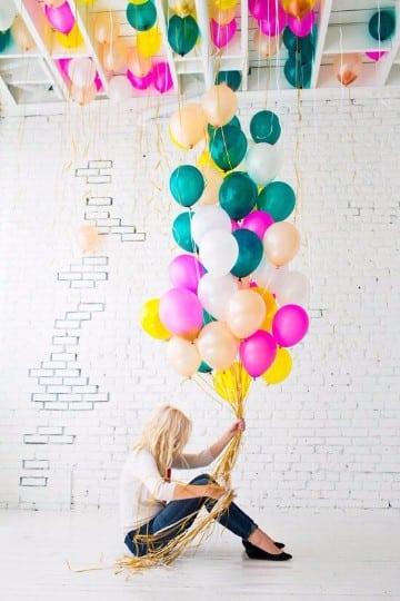 imagenes de globos de colores volando