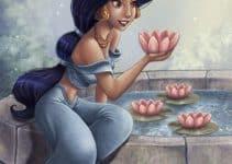 Imagenes de la princesa jazmin y aladdín enamorado