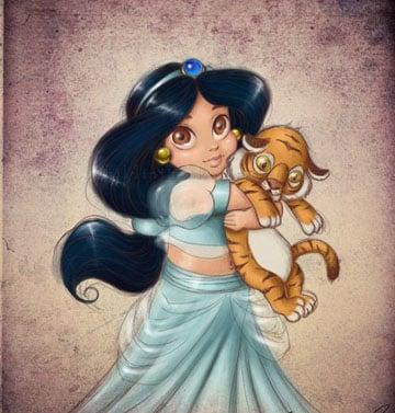 imagenes de la princesa jazmin bebe