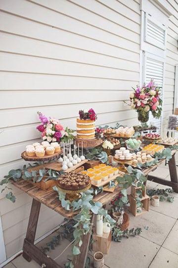imagenes de mesas de postres para boda