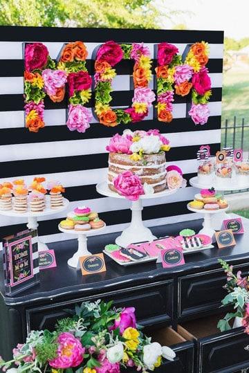 imagenes de mesas de postres para fiesta