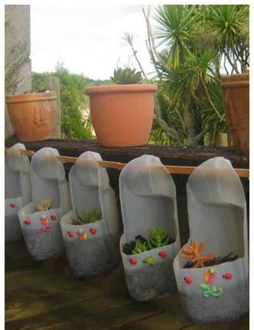 Maceteros o macetas con botellas de plastico recicladas - Maceteros plasticos grandes ...