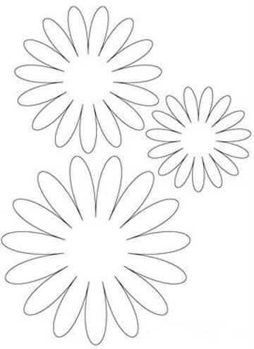 moldes de flores de papel cartulina