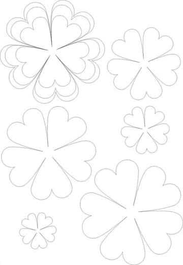 moldes de flores de papel para imprimir