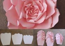 Moldes de flores de papel gigantes en cartulina para boda