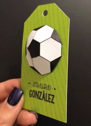 tarjetas de cumpleaños de futbol 3d