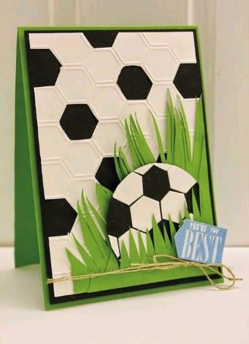 tarjetas de cumpleaños de futbol personalizadas