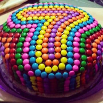 tortas decoradas con rocklets redondas