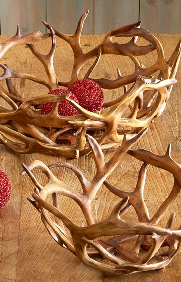 adornos de madera rusticos cesta