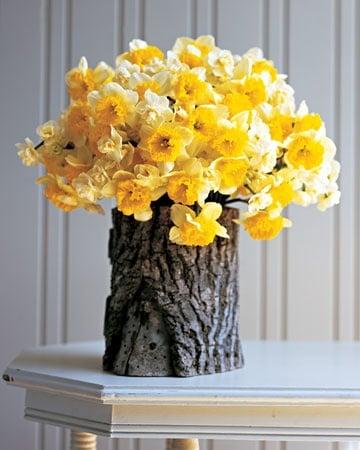 adornos de madera rusticos florero