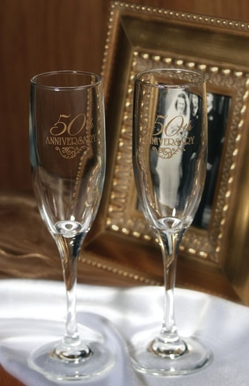 adornos para bodas de oro copas