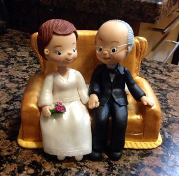 adornos para bodas de oro pareja