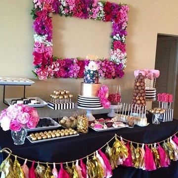 adornos para cumpleaños de adultos decoracion floral