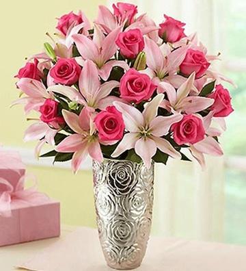 arreglos florales para el dia de la madre rosados