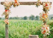 La sutil decoracion de las bodas rusticas al aire libre
