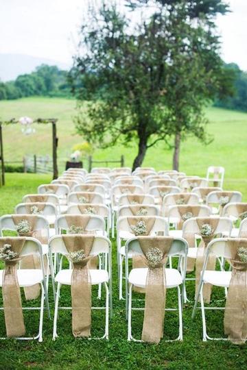 bodas rusticas al aire libre sillas