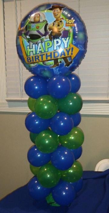 centros de mesa de buzz lightyear con globos