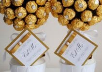 Centros de mesa dorados en blanco y dorado u oro para boda