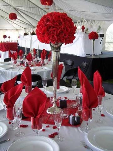 centros de mesa para boda rojos buque
