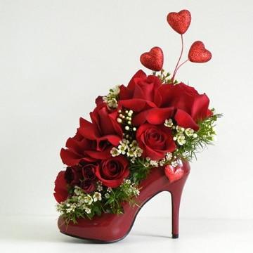 centros de mesa para boda rojos con rosas