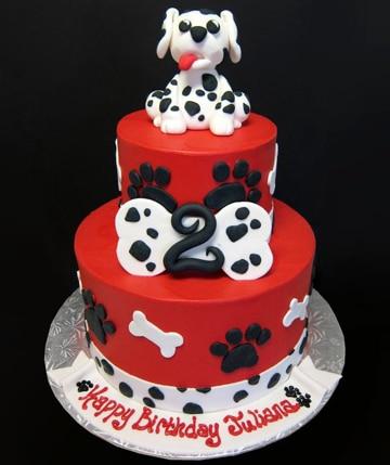 como hacer un pastel para perro dalmata