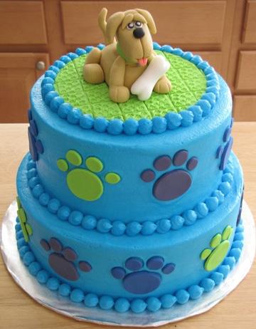 como hacer un pastel para perro decorado