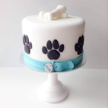 como hacer un pastel para perro facil