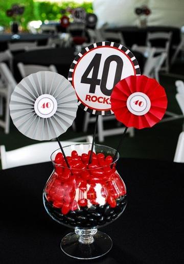 cumpleaños de adultos adornos para mesa